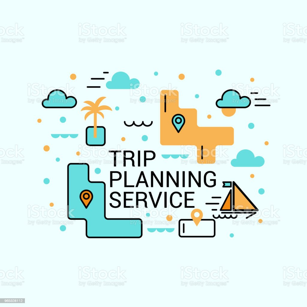 Trip planning service. Cheap flights. The concept of travel. trip planning service cheap flights the concept of travel - stockowe grafiki wektorowe i więcej obrazów bez ludzi royalty-free