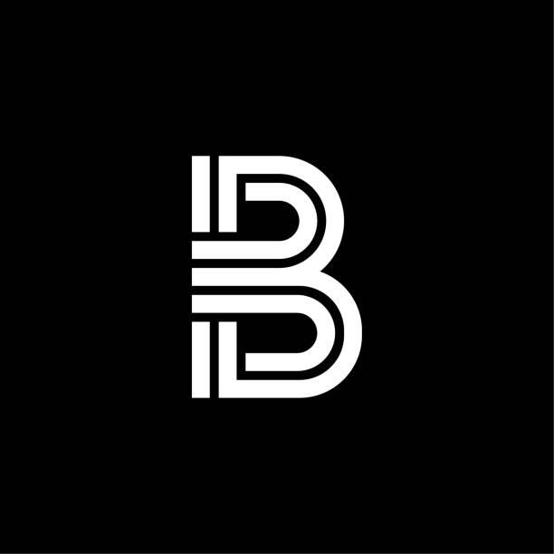Triple Double Line Letter Logotype B vector art illustration