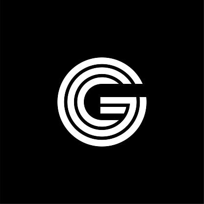 Triple Double Line Letter Logotype G