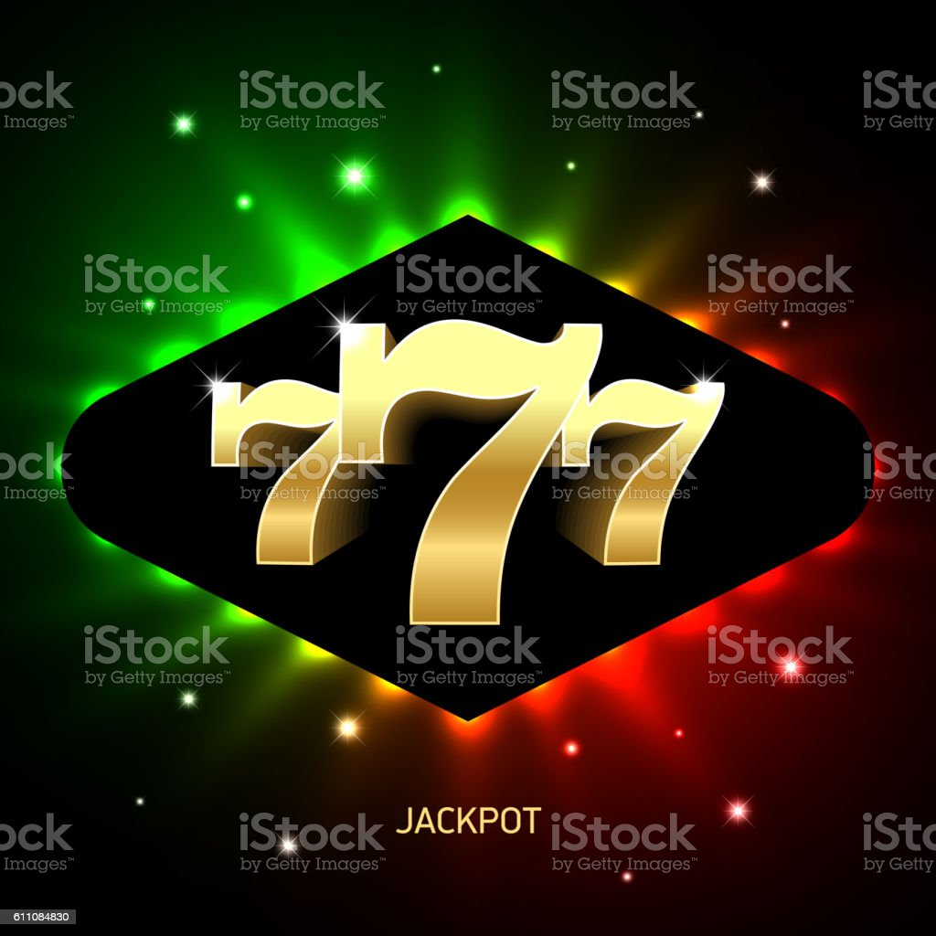 Triple sevens casino jackpot banner vector art illustration