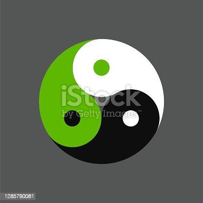 istock Triple yin yang symbol 1285790081