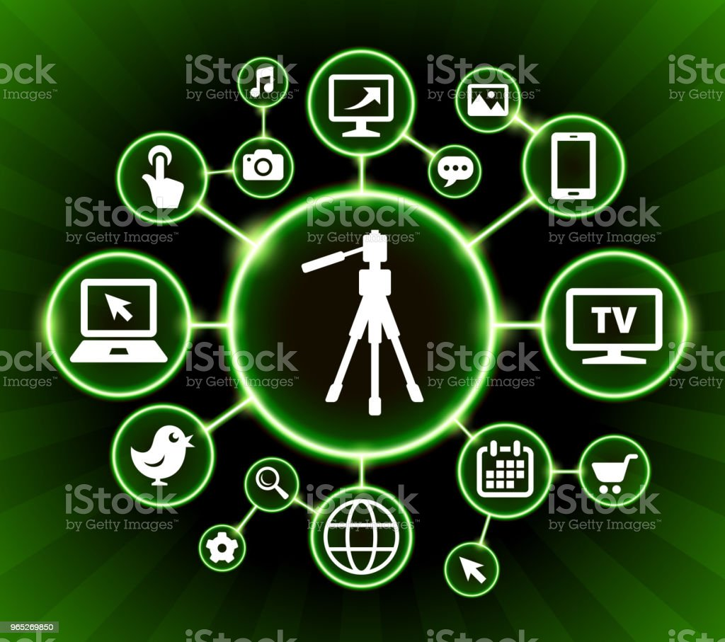 Tripod Internet Communication Technology Dark Buttons Background royalty-free tripod internet communication technology dark buttons background stock vector art & more images of backgrounds
