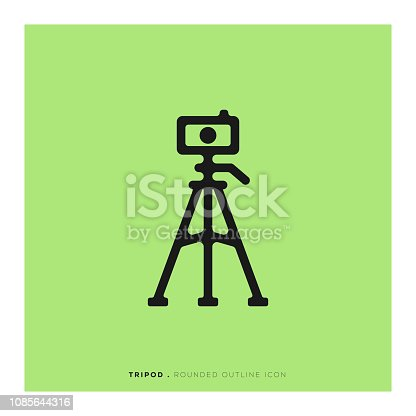 Tripod Rounded Line Icon