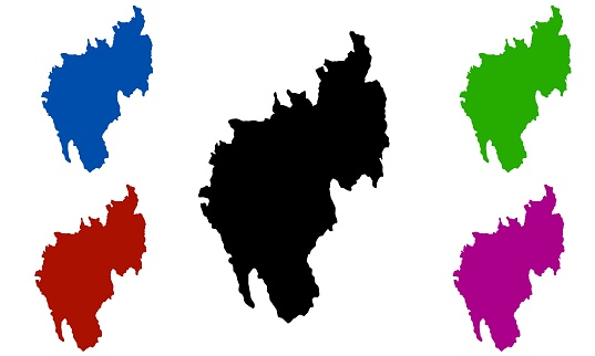 Tripura country map silhouette in India