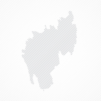 Tripura map designed with lines on white background