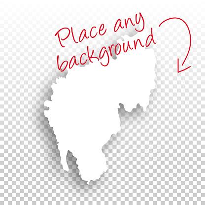 Tripura Map for design - Blank Background