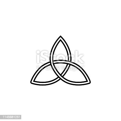 Triquetra, magic icon. Element of magic for mobile concept and web apps icon. Thin line icon for website design and development on white background