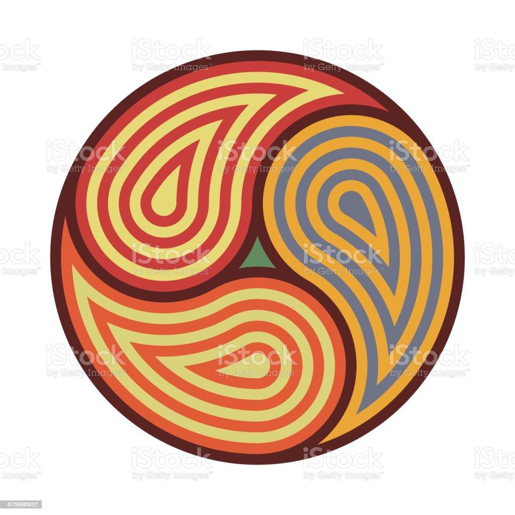 Triskelion symbol tattoo geometric circular ornament for Circular symbols tattoos