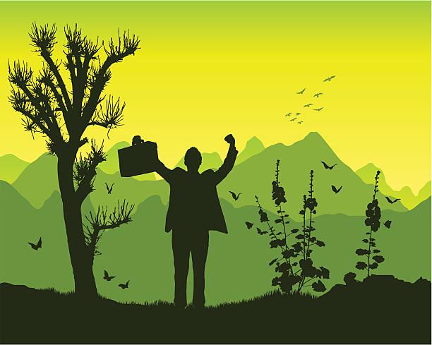 triumph in die berge - kanzlerin stock-grafiken, -clipart, -cartoons und -symbole