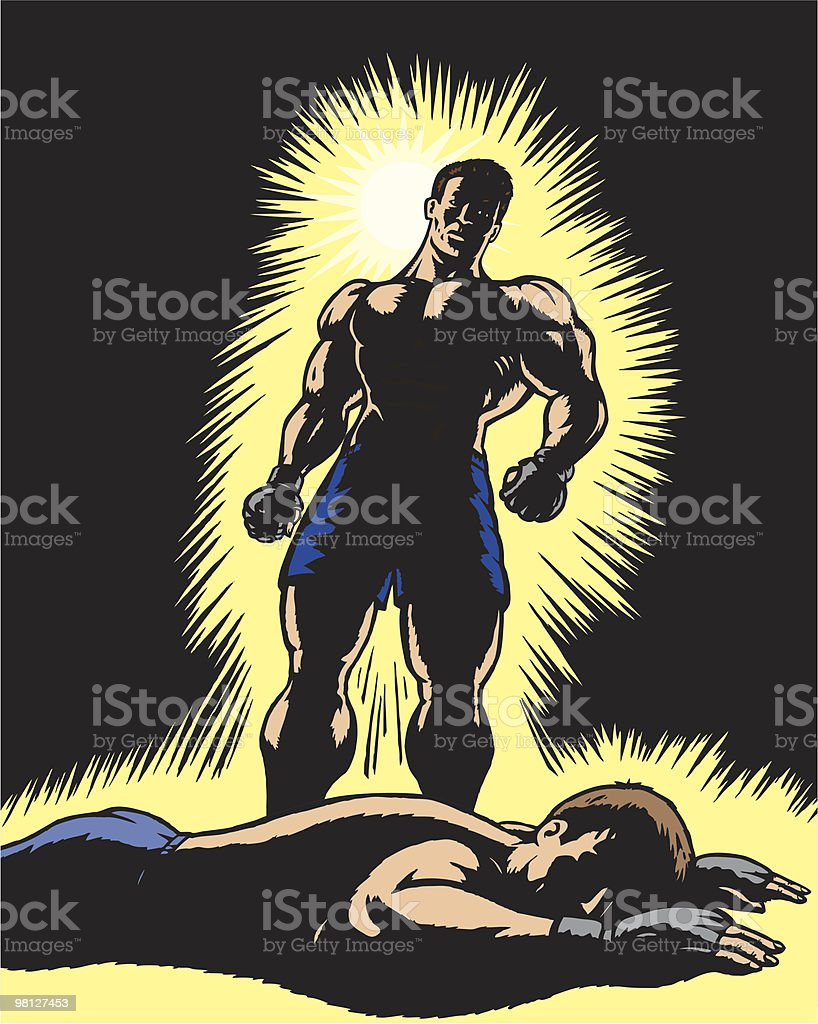 Triumphant fighter royalty-free triumphant fighter stock vector art & more images of adult