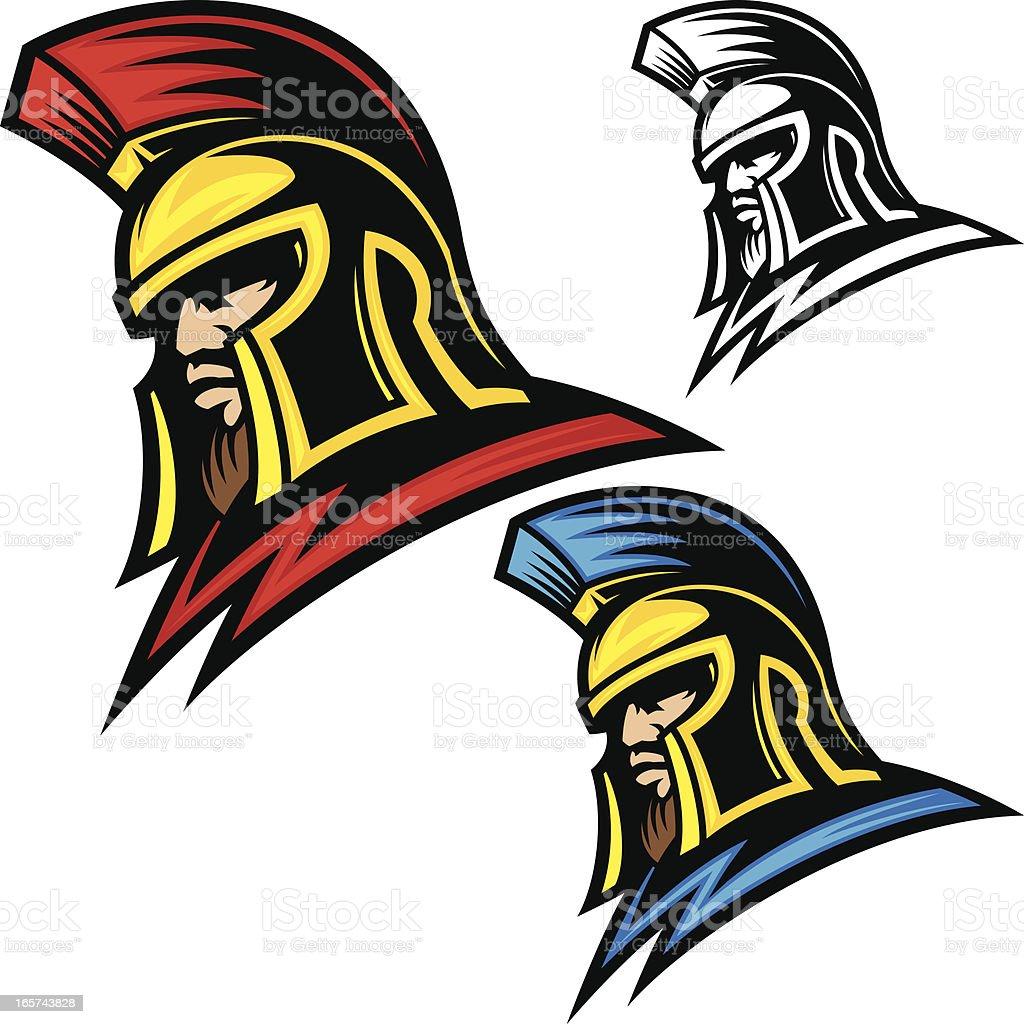 Trojan Head Helmet royalty-free trojan head helmet stock vector art & more images of cartoon