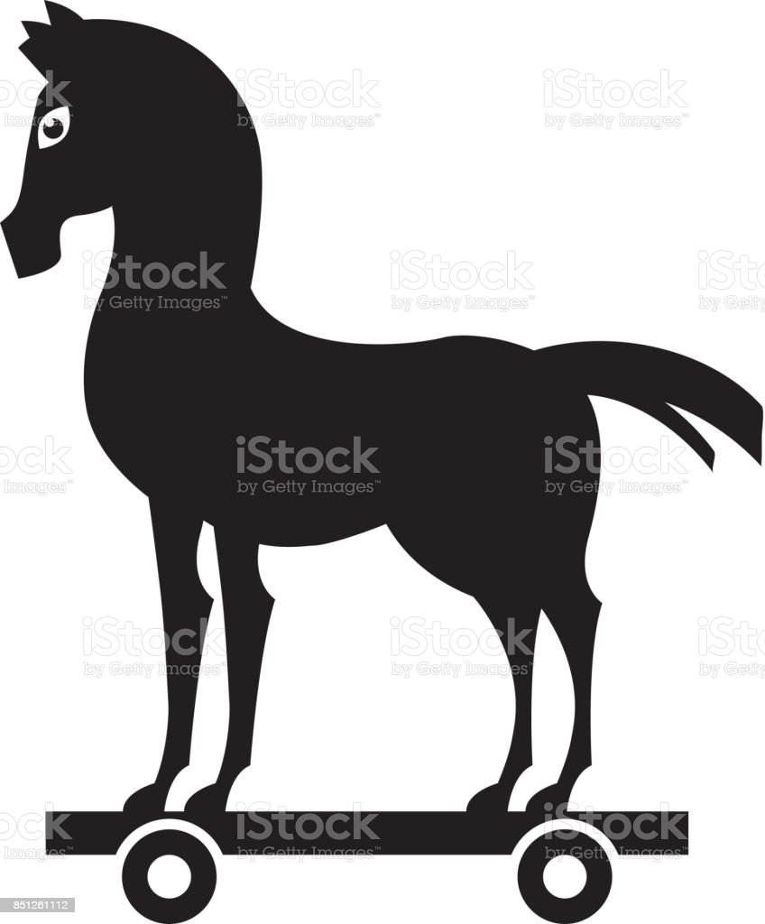 Trojan Horse Silhouette Isolated Icon Stock Illustration Download Image Now Istock