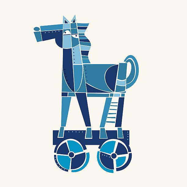 ilustraciones, imágenes clip art, dibujos animados e iconos de stock de caballo de troya - tintanegra00
