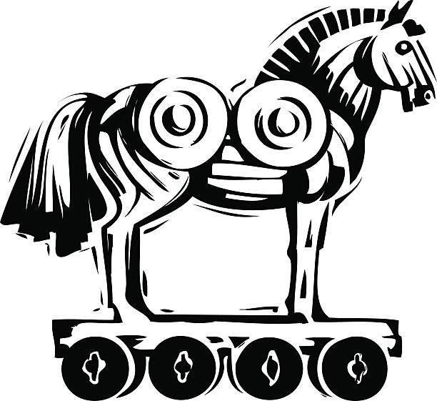 Trojan Horse Clip Art Vector Images Illustrations