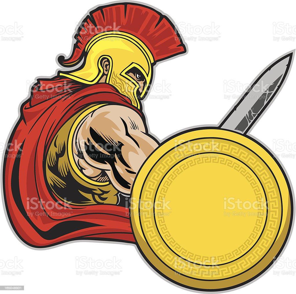 Trojan Stance royalty-free stock vector art