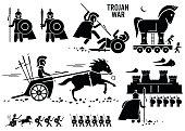 Trojan War Horse Greek Rome Warrior Troy Sparta Spartan Cliparts