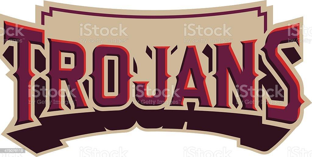 Trojans Emblem royalty-free trojans emblem stock vector art & more images of 2015