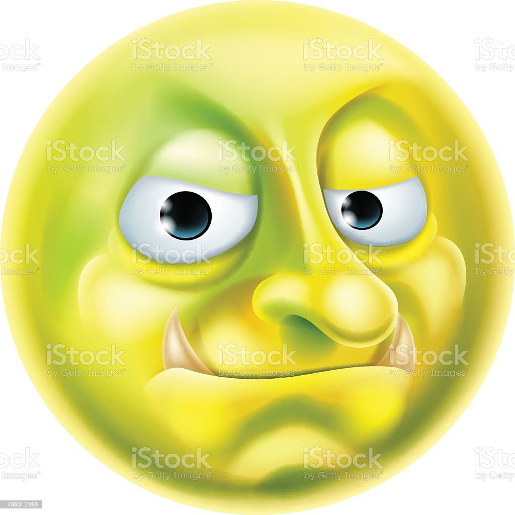 Troll Emoji Emoticon vector art illustration
