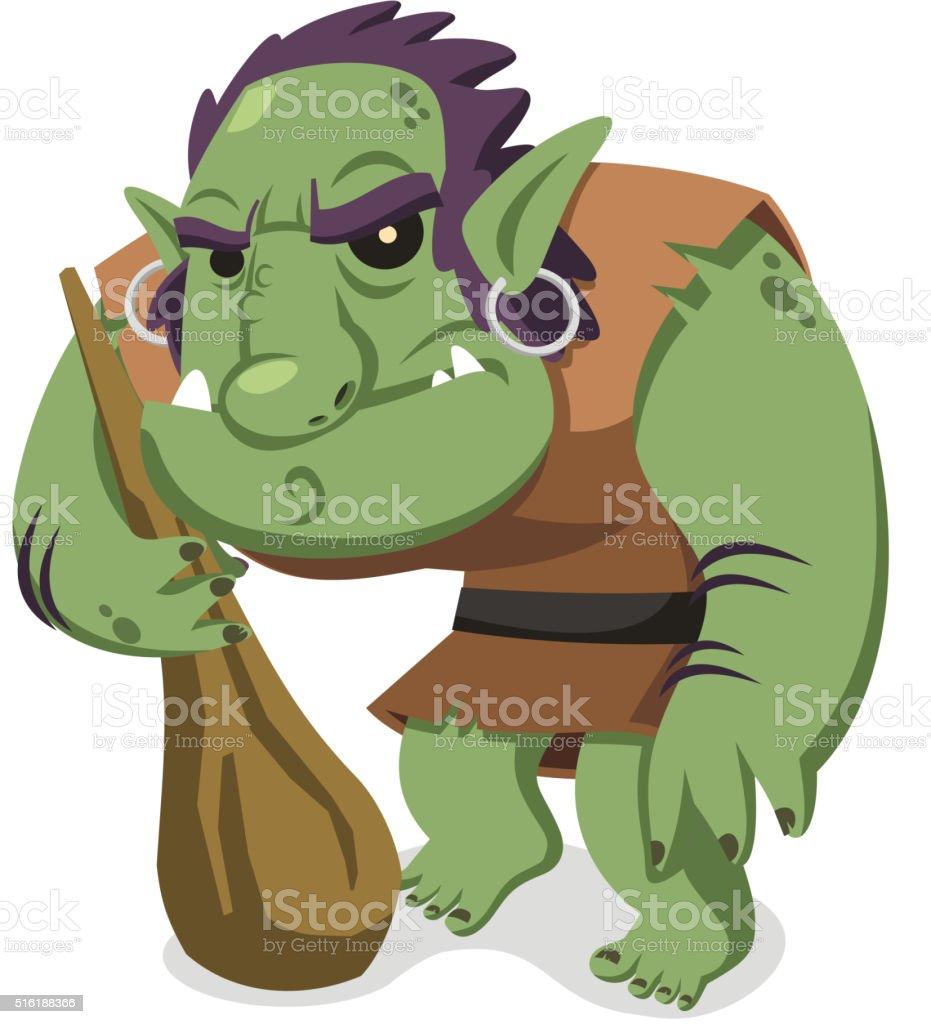 Troll vector art illustration