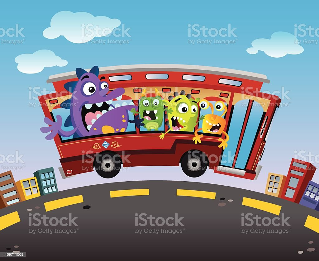 Trolley Monsters royalty-free trolley monsters stock vector art & more images of 2015