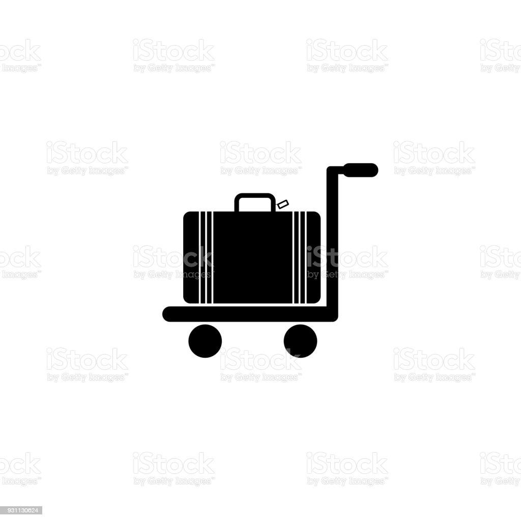 Arabası bavul vektör çizim - Royalty-free Ambalaj Vector Art