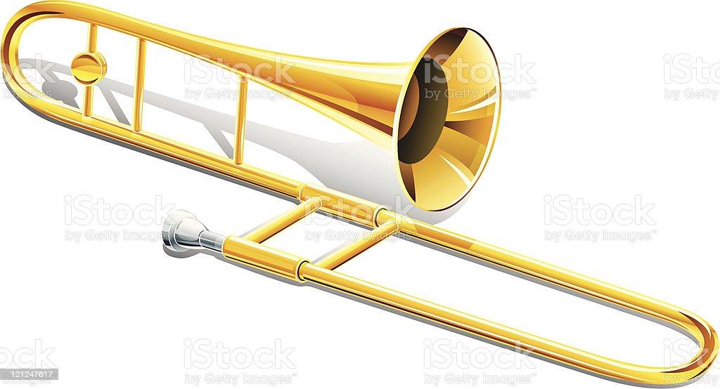trombone musical instrument vector art illustration