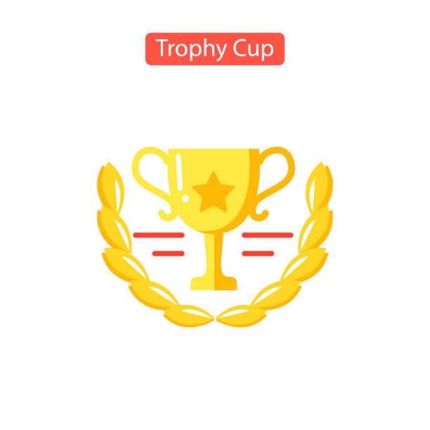 Trophy Cup-Symbol. Flaches Piktogramm – Vektorgrafik