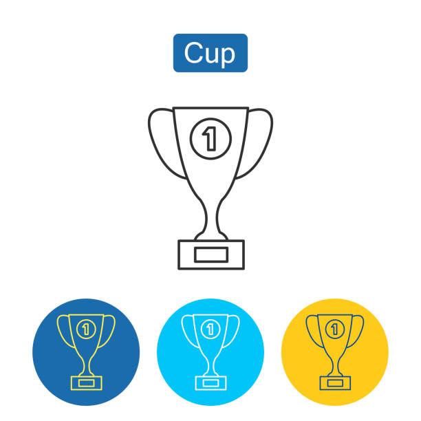 Trophy Cup-Ikone. Umrisspiktogramm – Vektorgrafik