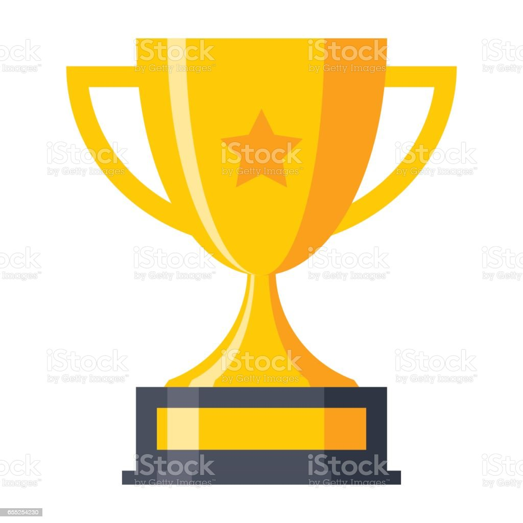 Trophy Cup Icon vector art illustration