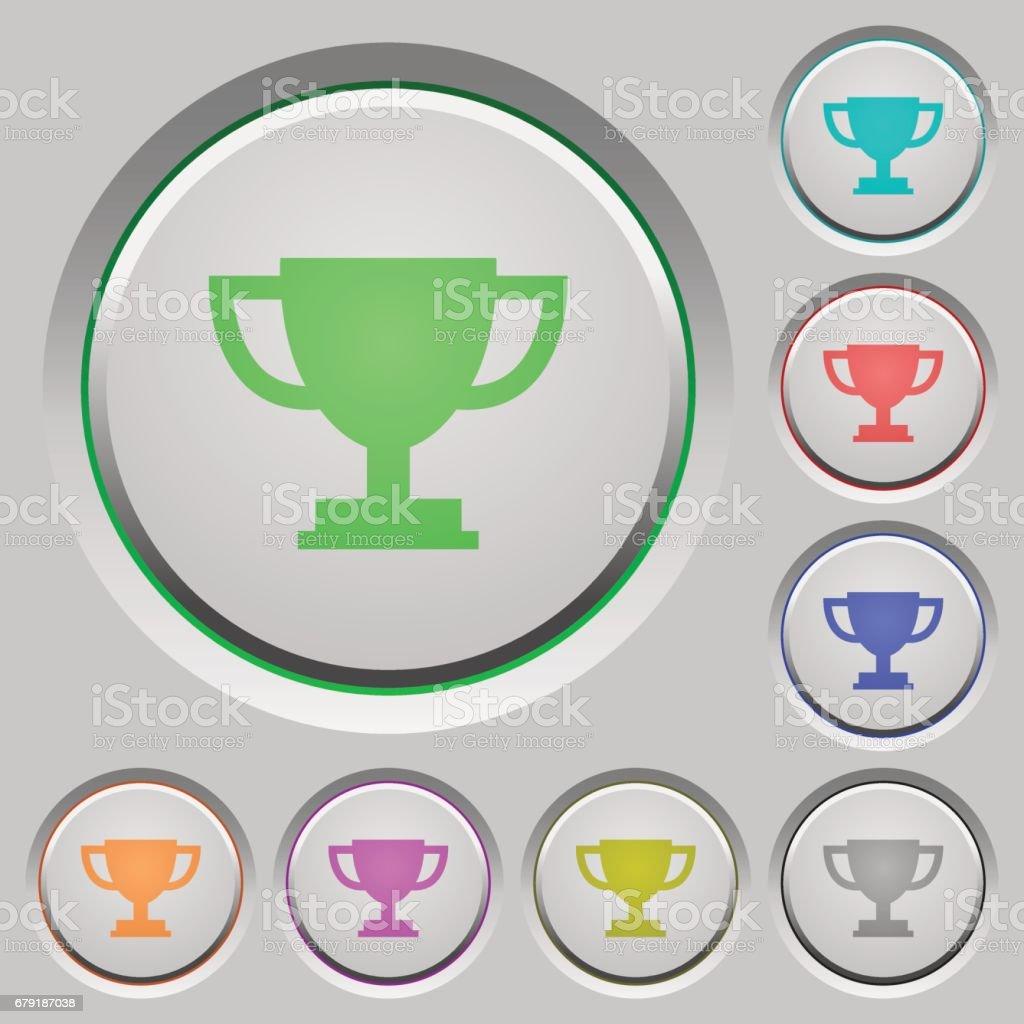 Trophy cup push buttons trophy cup push buttons - arte vetorial de stock e mais imagens de aplicar royalty-free