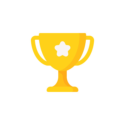 Trophy Flat Icon. Pixel Perfect. For Mobile and Web.