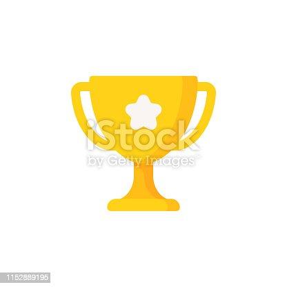 Trophy Flat Icon.