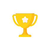 istock Trophy Flat Icon. Pixel Perfect. For Mobile and Web. 1152889195