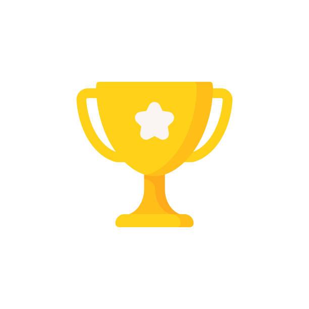 獎盃平面圖標。圖元完美。適用于移動和 web。 - 杯 幅插畫檔、美工圖案、卡通及圖標