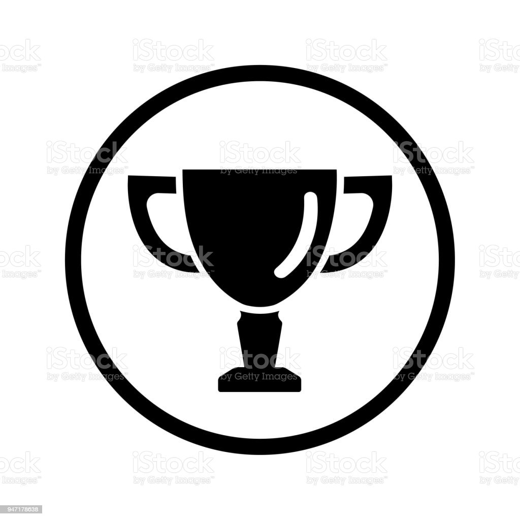 Trophy Icon Logo Royalty Free Stock Vector Art Amp More Images