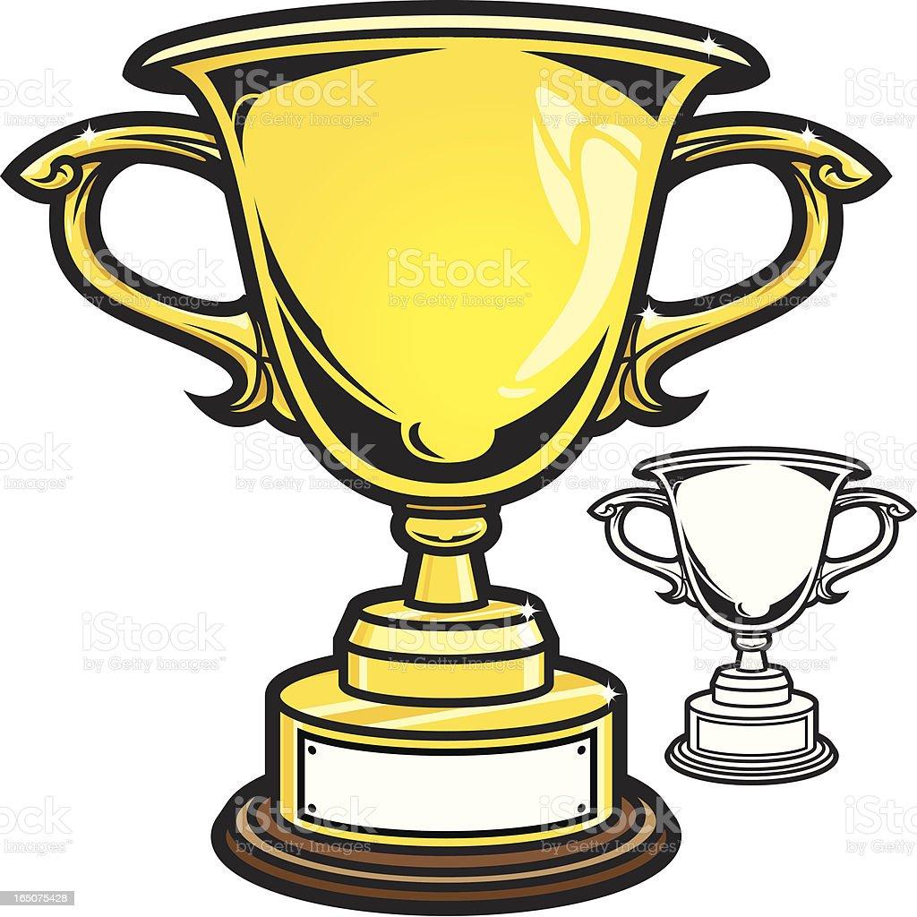 Trophy II royalty-free trophy ii stock vector art & more images of award