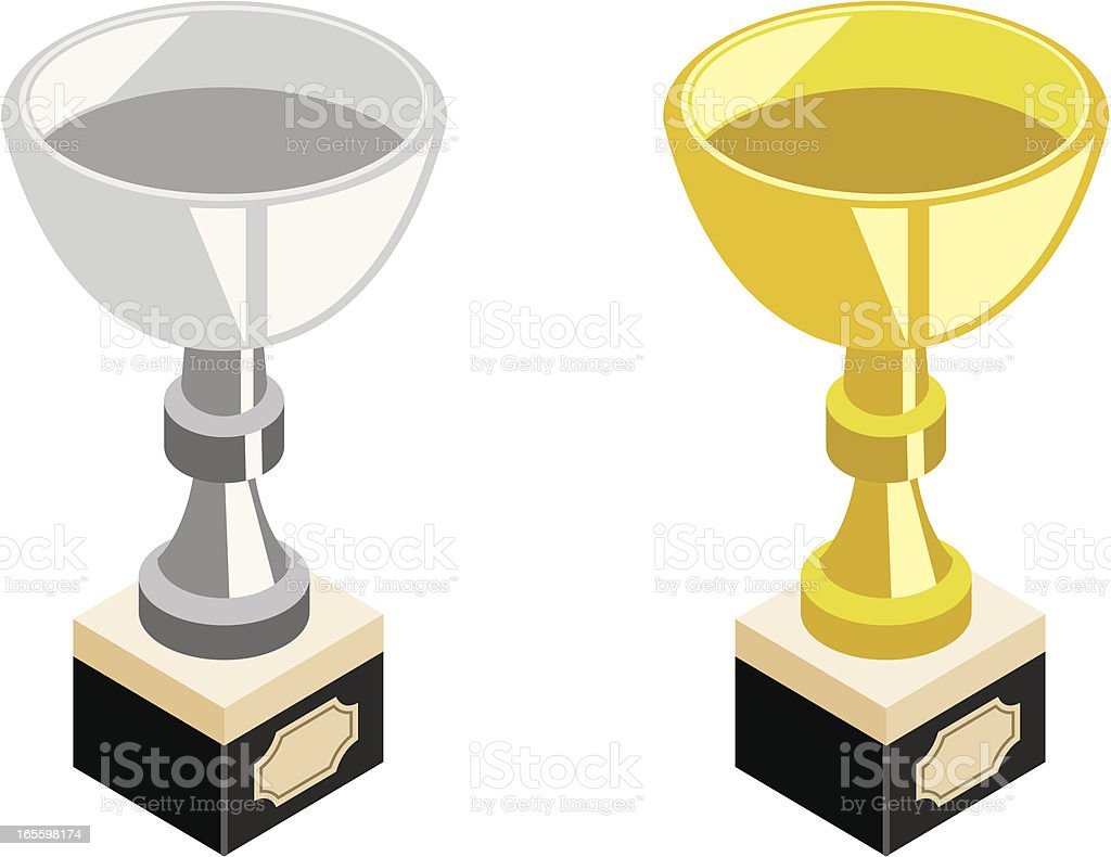 Trophy | silver and gold royalty-free trophy silver and gold stock vector art & more images of achievement