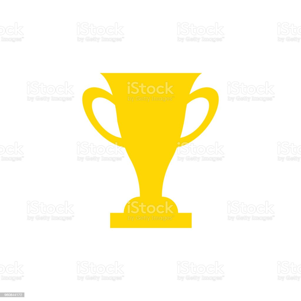 Trophy Star Icon Gold Prize Isolated Award Winner Prize Achievement