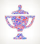 Trophy on U.S.A Icon Pattern