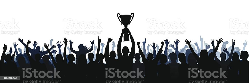 Trophy (61 Complete People, Clipping Path Hides the Legs) vector art illustration