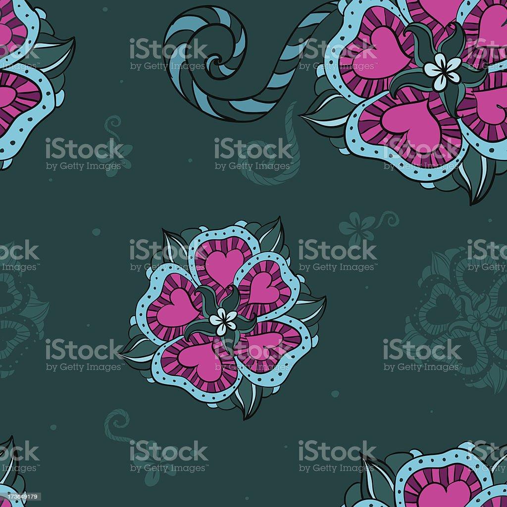 Tropic flower seamless pattern royalty-free stock vector art