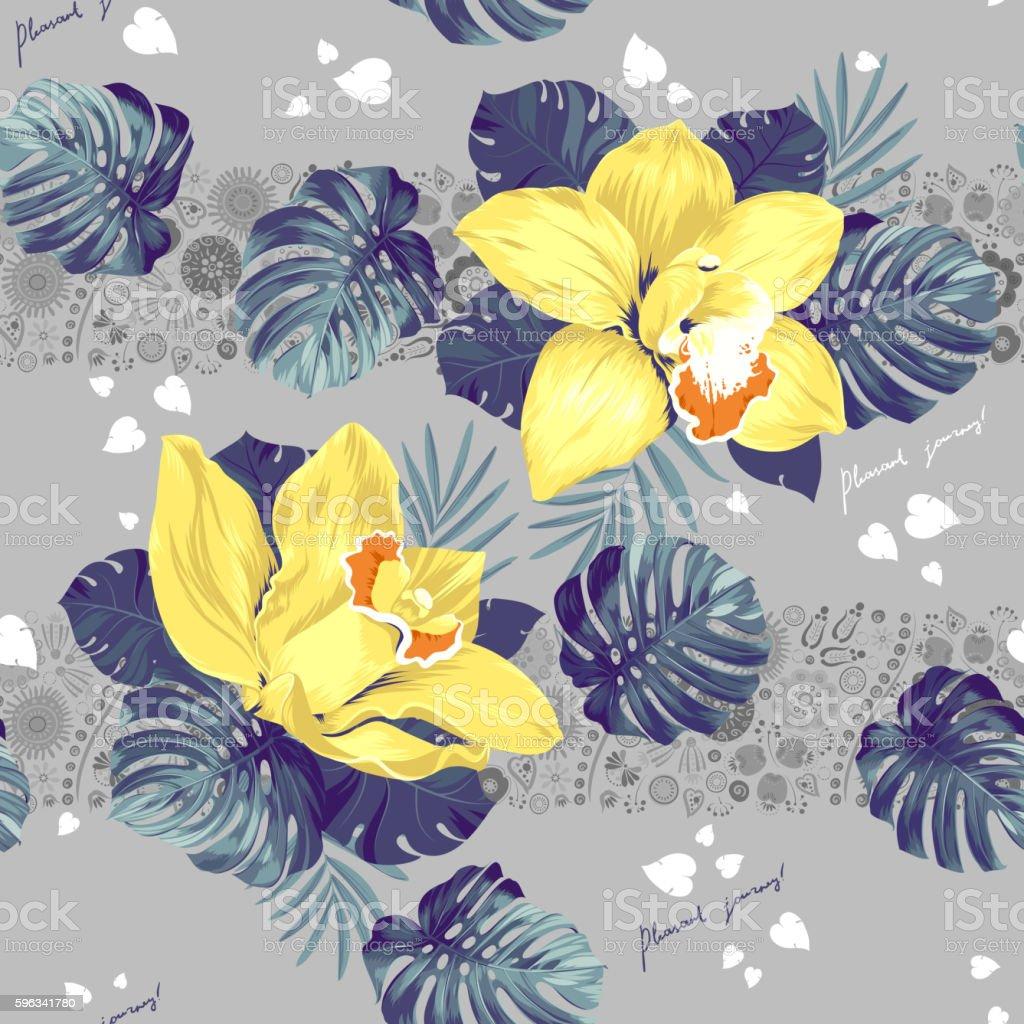 Tropic seamless pattern Lizenzfreies tropic seamless pattern stock vektor art und mehr bilder von abstrakt