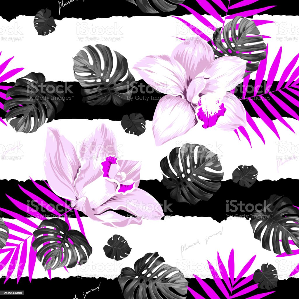 Tropic seamless pattern royalty-free tropic seamless pattern stock vector art & more images of art