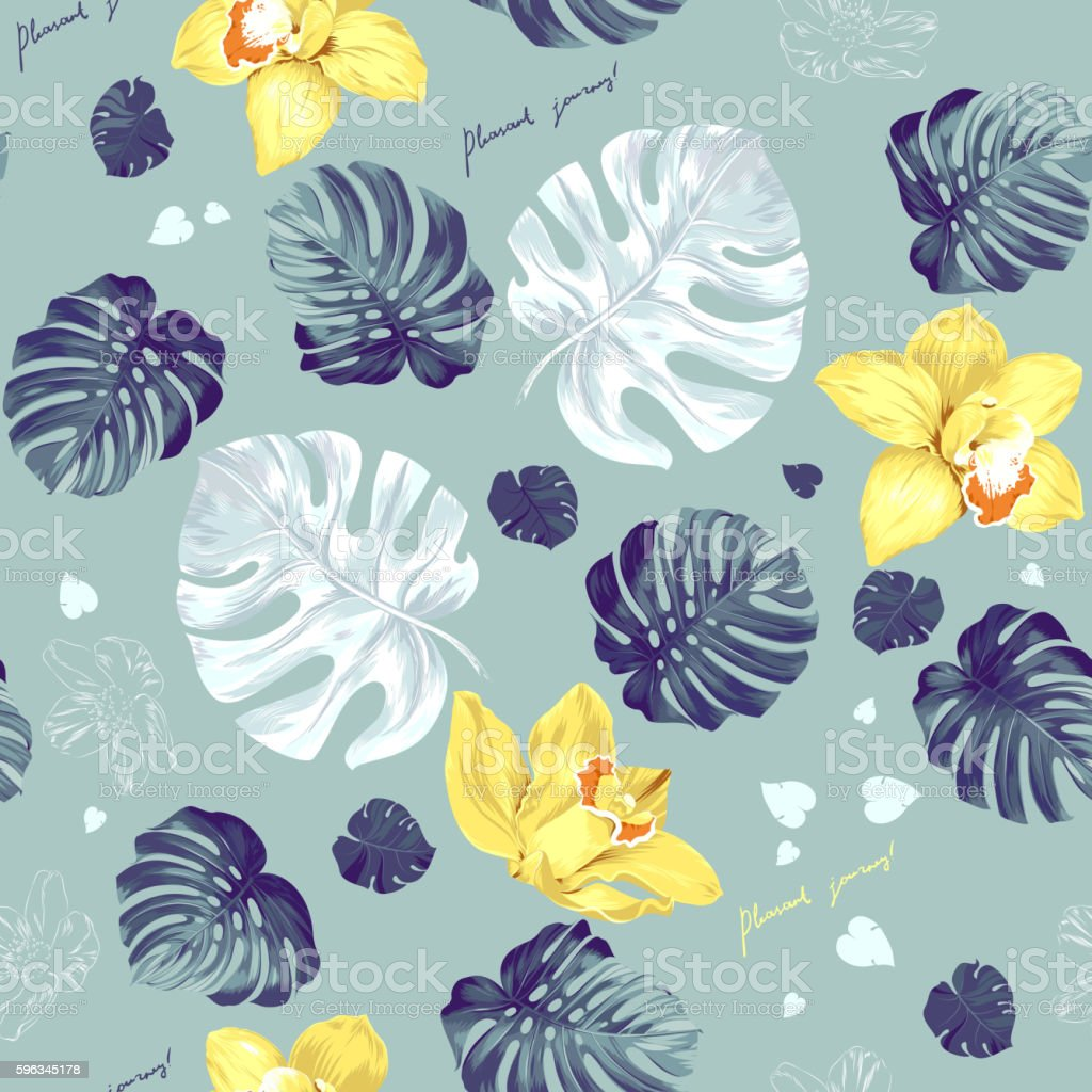Tropic seamless pattern royalty-free tropic seamless pattern stock vector art & more images of abstract