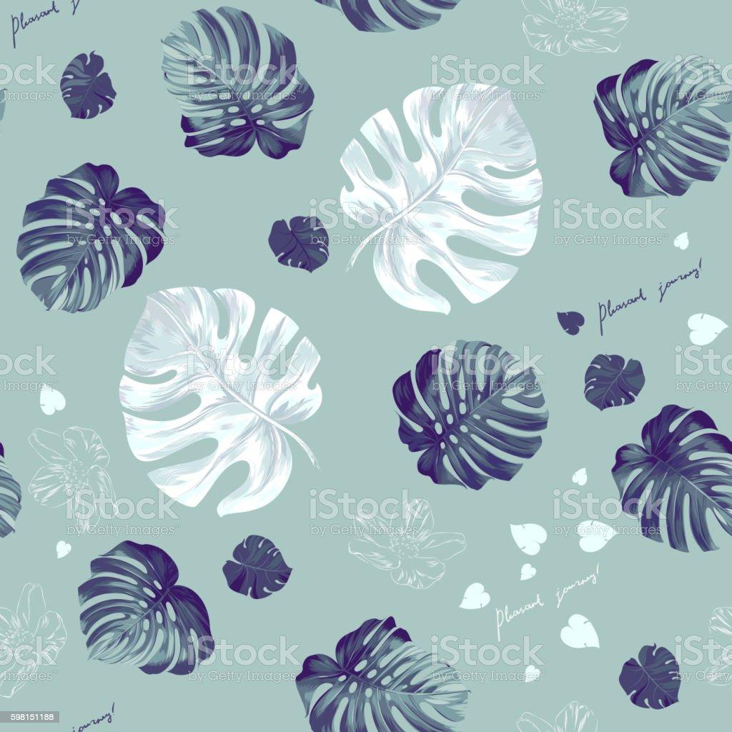 Tropic seamless pattern - ilustración de arte vectorial