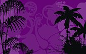 tropic summer hawaiian background in vector format very easy to edit