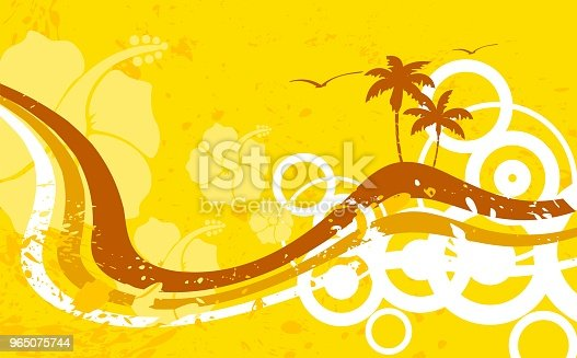 Tropic Summer Hawaiian Background2 Stock Vector Art & More Images of Abstract 965075744