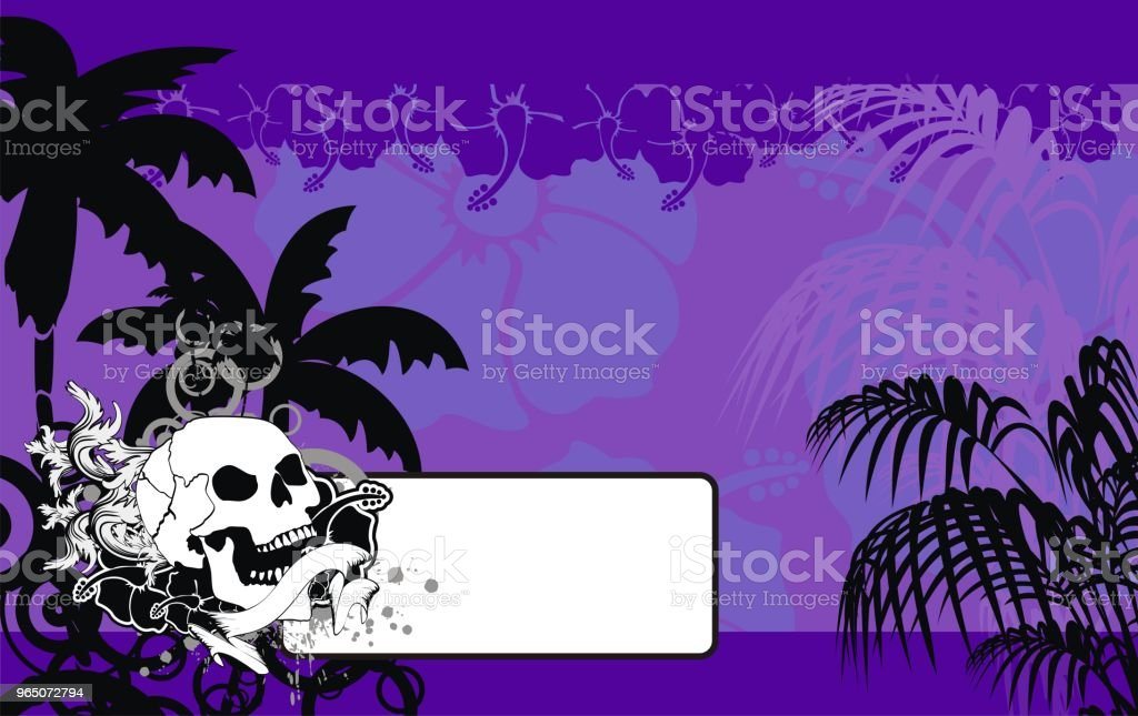 tropic summer hawaiian copy space background royalty-free tropic summer hawaiian copy space background stock illustration - download image now