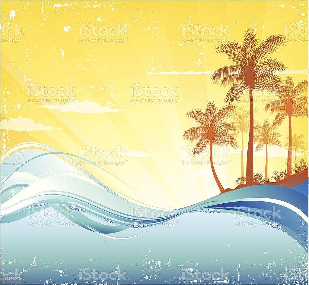 Tropical Background vector art illustration