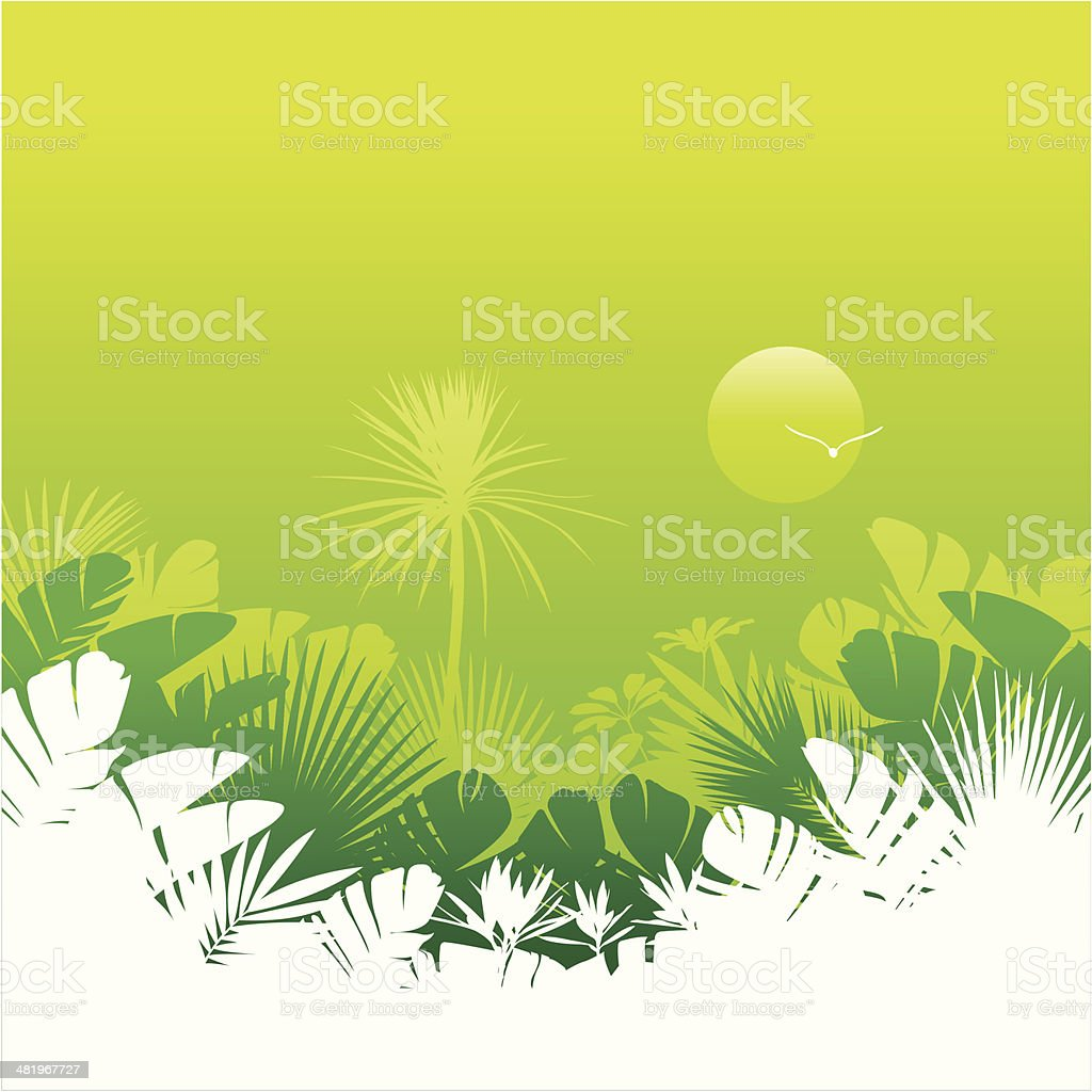 Tropical background royalty-free stock vector art